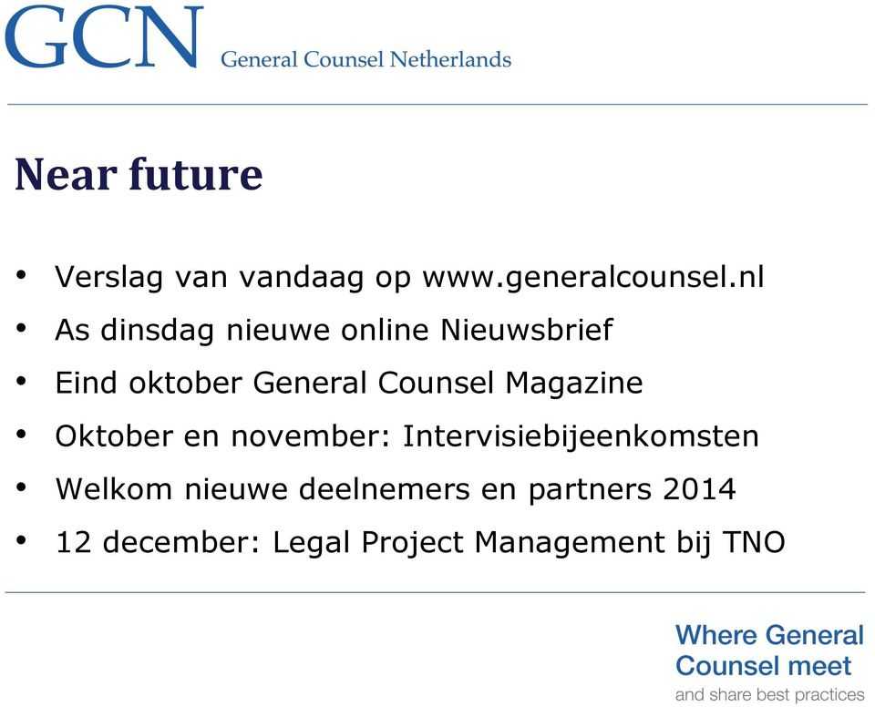 Counsel Magazine Oktober en november: Intervisiebijeenkomsten