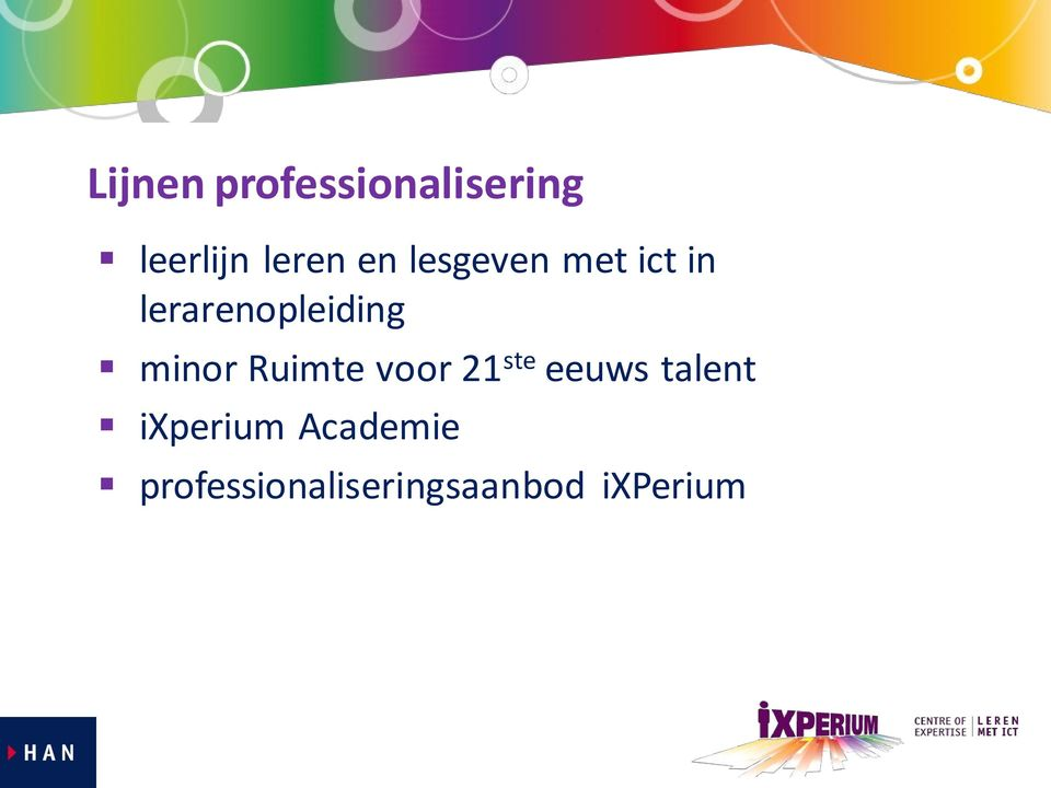 minor Ruimte voor 21 ste eeuws talent