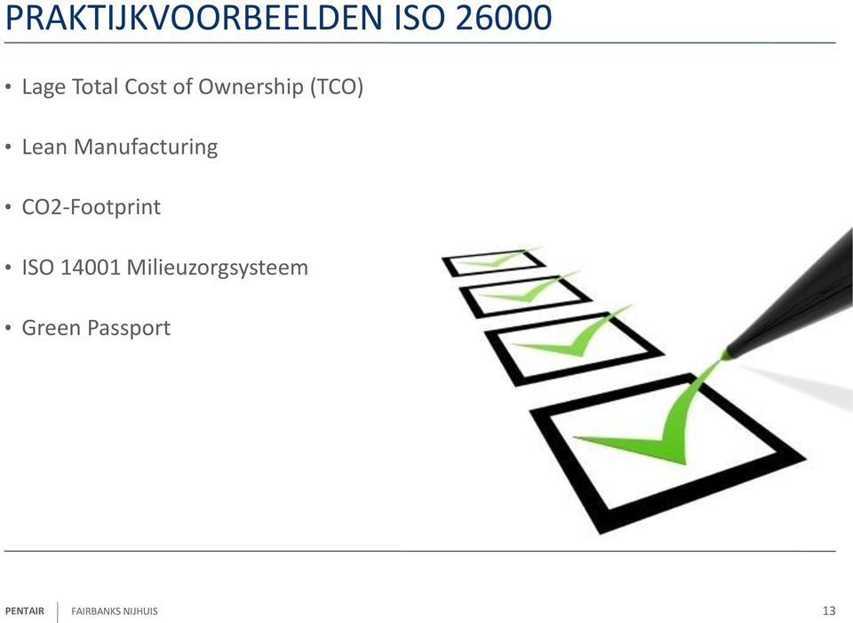 Manufacturing CO2-Footprint ISO