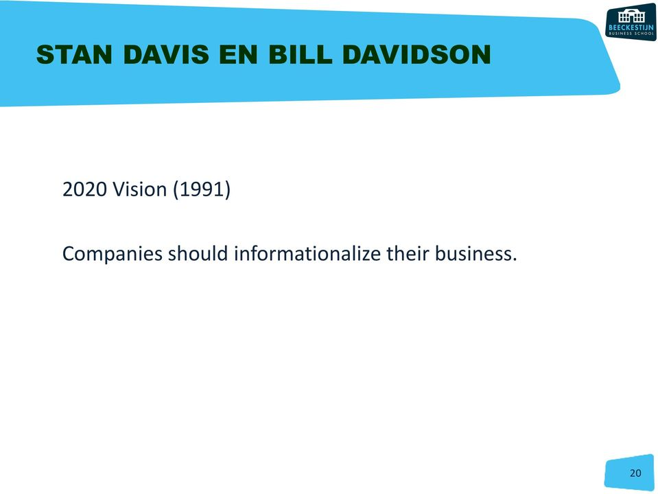 (1991) Companies should