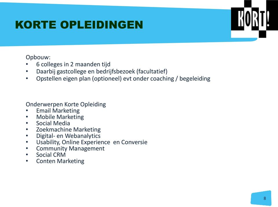 Korte Opleiding Email Marketing Mobile Marketing Social Media Zoekmachine Marketing Digital- en
