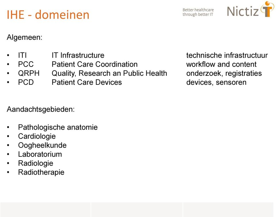 Health onderzoek, registraties PCD Patient Care Devices devices, sensoren