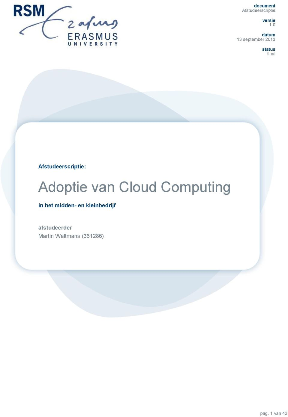 Cloud Computing in het