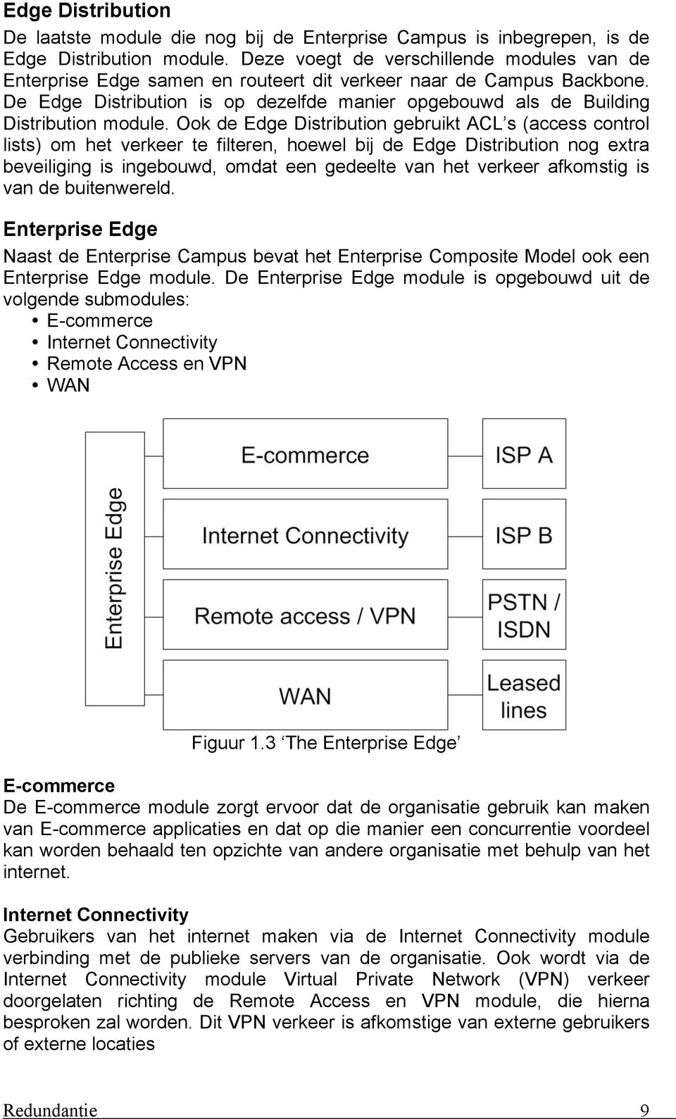De Edge Distribution is op dezelfde manier opgebouwd als de Building Distribution module.