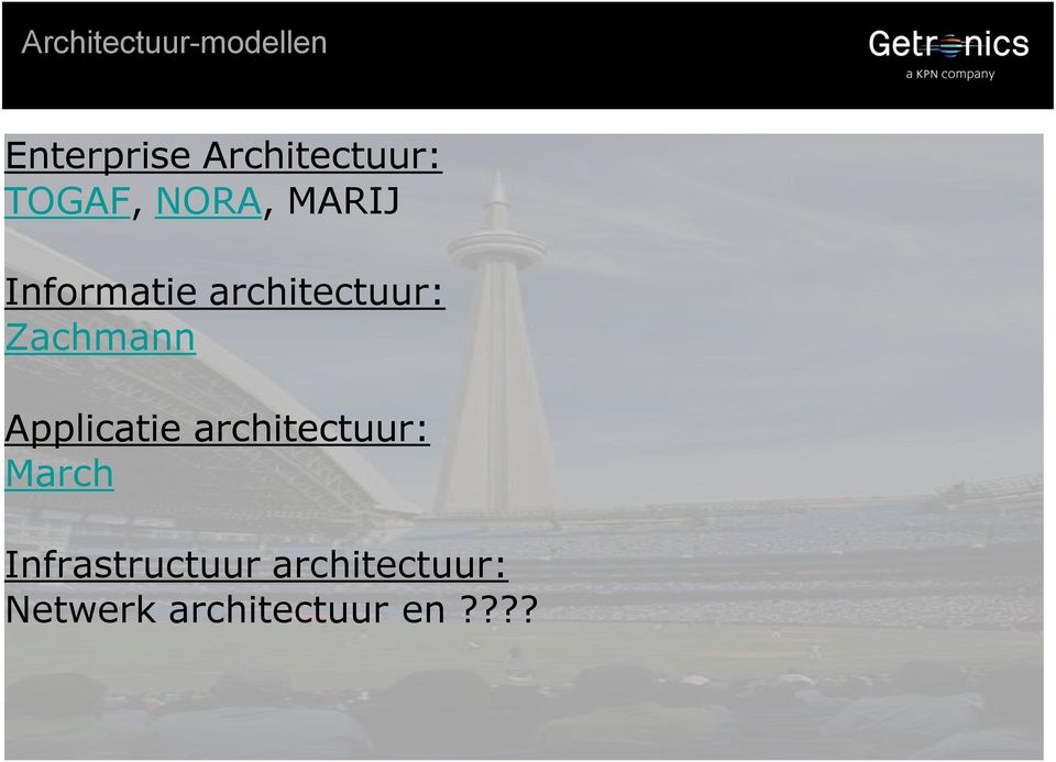 Zachmann Applicatie architectuur: March
