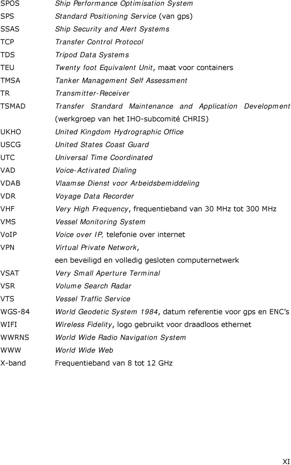 Standard Maintenance and Application Development (werkgroep van het IHO-subcomité CHRIS) United Kingdom Hydrographic Office United States Coast Guard Universal Time Coordinated Voice-Activated