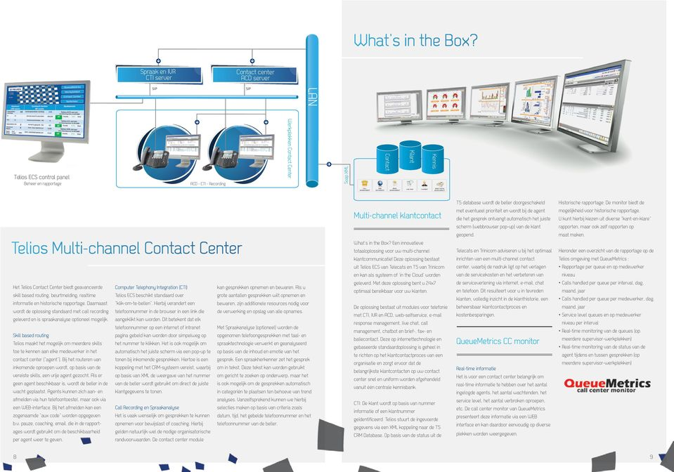 MANAGEMENT WEB SELFSERVICE EMAIL MANAGEMENT LIVE CHAT CHATBOT BRIEF, FAX EN BALIECONTACT Telios Multi-channel Contact Center Het Telios Contact Center biedt geavanceerde skill based routing,