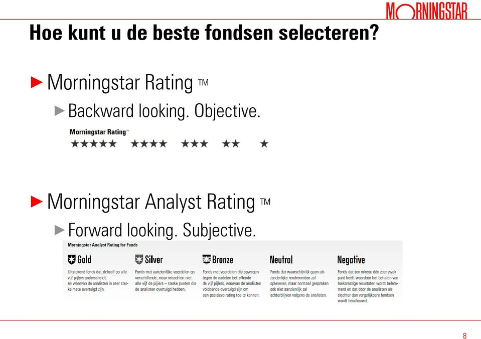 Morningstar Rating TM Backward