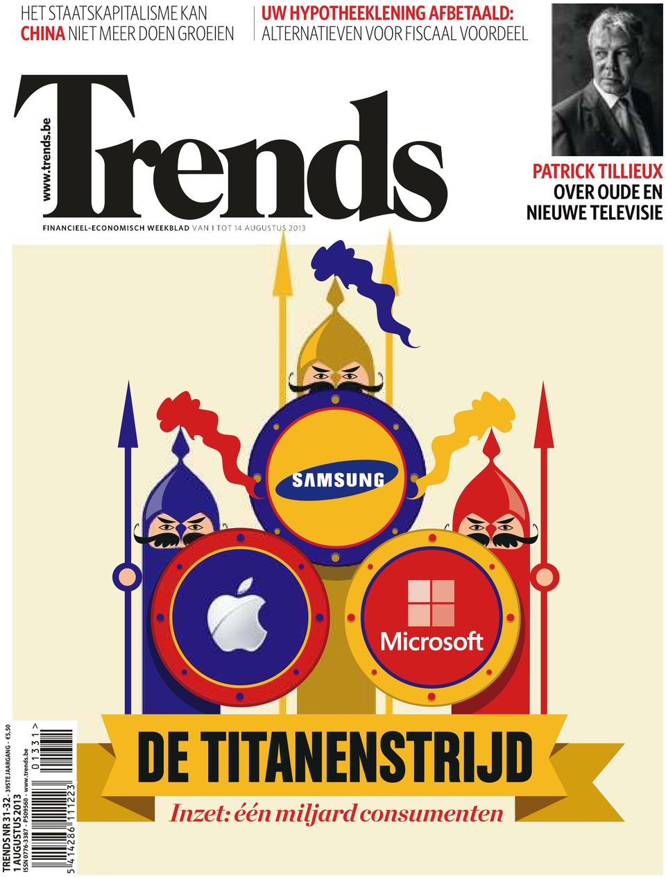 be FINANCIEEL-ECONOMISCH WEEKBLAD VAN 1 TOT 14 AUGUSTUS 2013 PATRICK TILLIEUX OVER OUDE EN