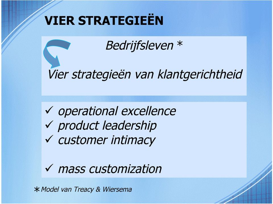 excellence product leadership customer