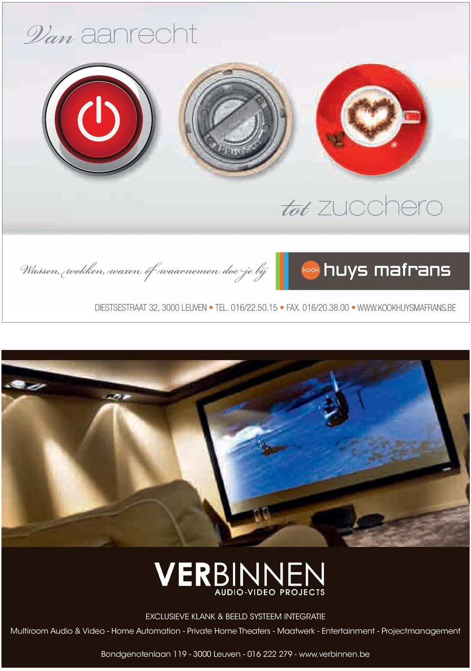 indd 1 2/24/10 4:22:49 PM EXCLUSIEVE KLANK & BEELD SYSTEEM INTEGRATIE Multiroom Audio & Video - Home Automation -