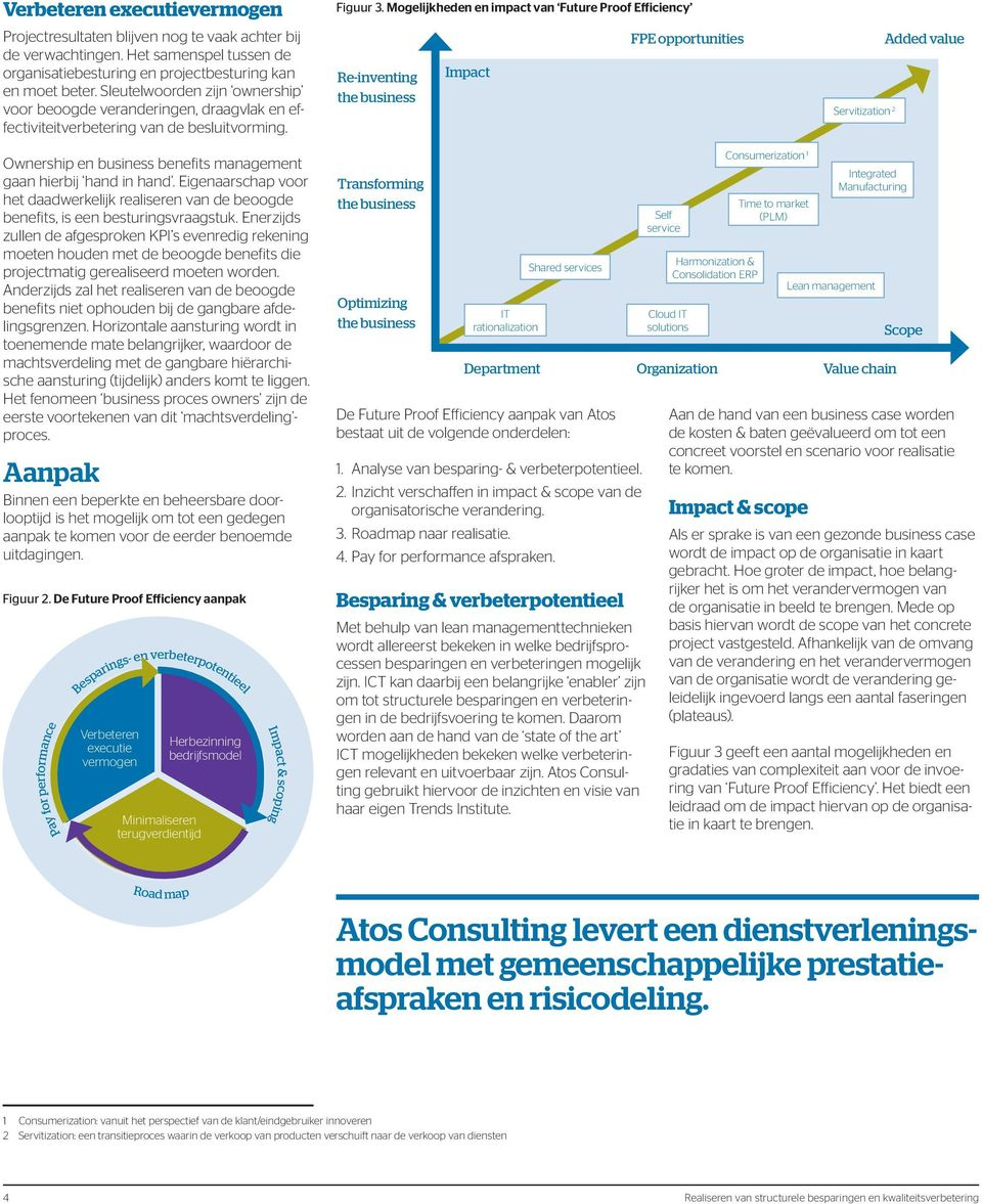 Mogelijkheden en impact van Future Proof Efficiency Re-inventing the business Impact FPE opportunities Servitization 2 Added value Ownership en business benefits management gaan hierbij hand in hand.