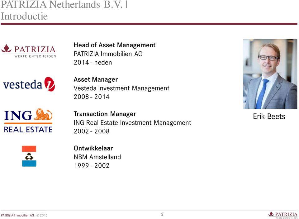 heden Asset Manager Vesteda Investment Management 2008-2014