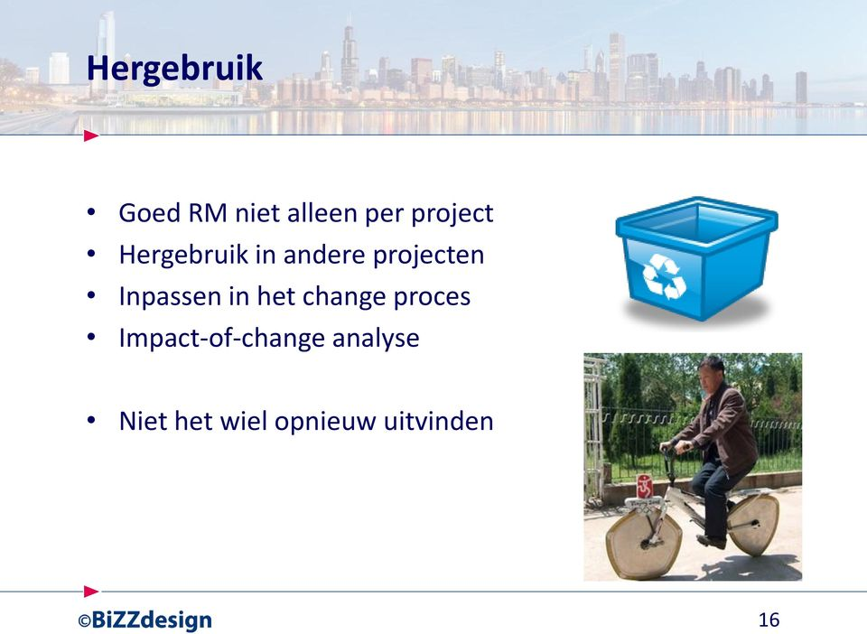 Inpassen in het change proces