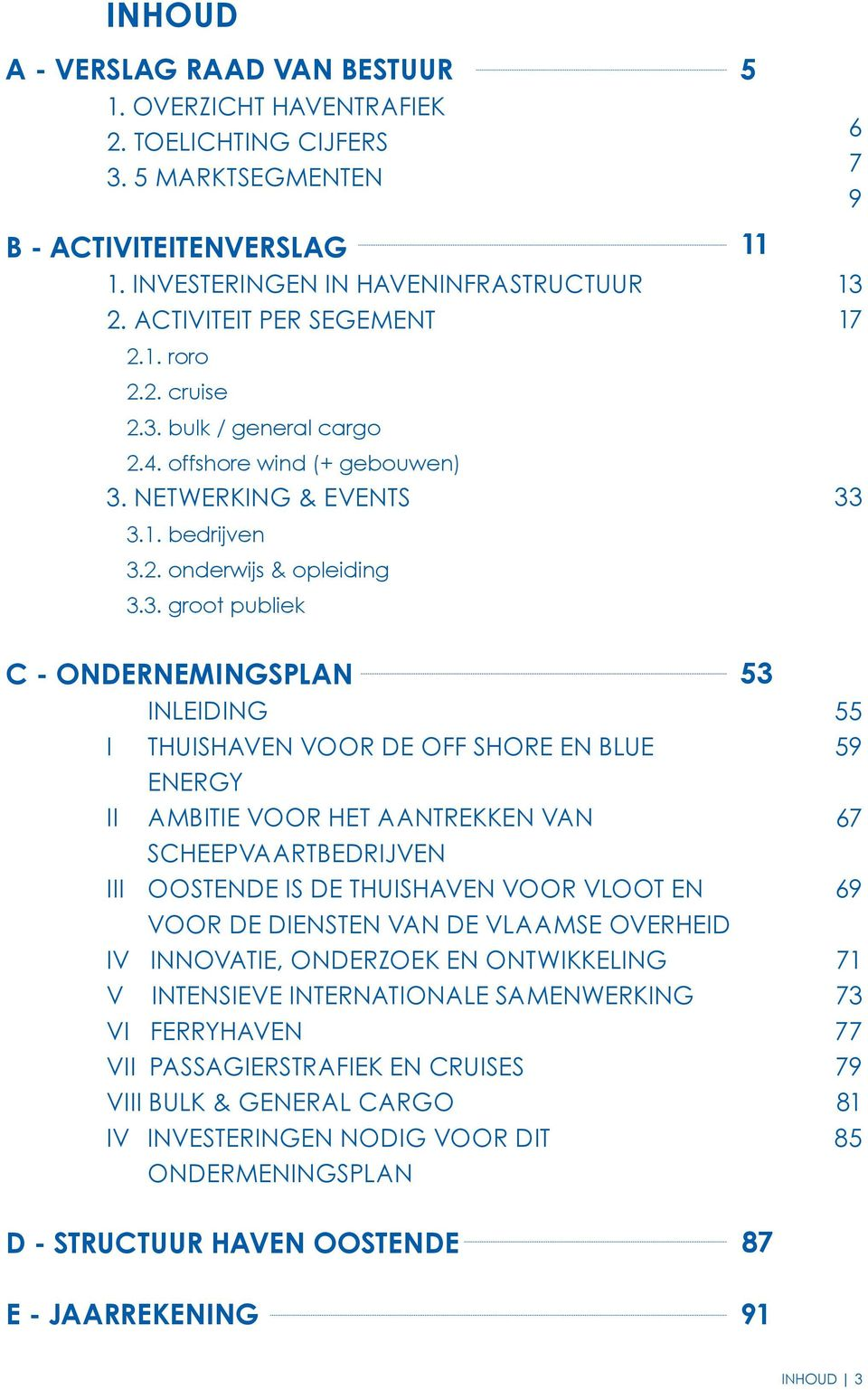 bulk / general cargo 2.4. offshore wind (+ gebouwen) 3.