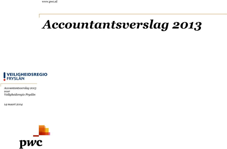 2013 Accountantsverslag