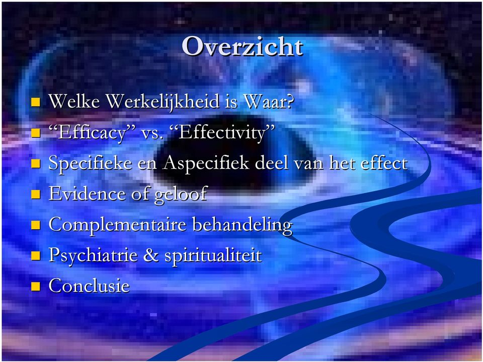 Effectivity Specifieke en Aspecifiek deel van