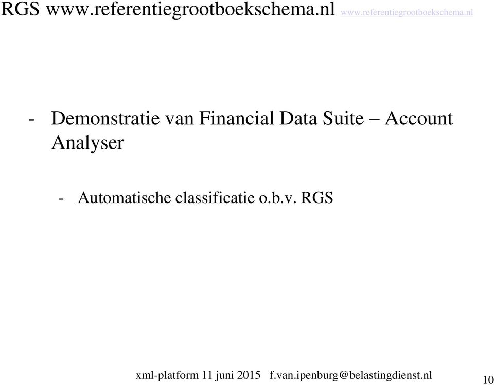 nl - Demonstratie van Financial Data Suite