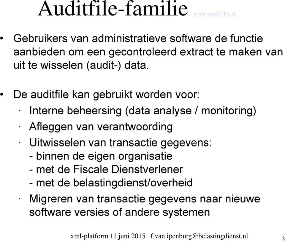 (audit-) data.