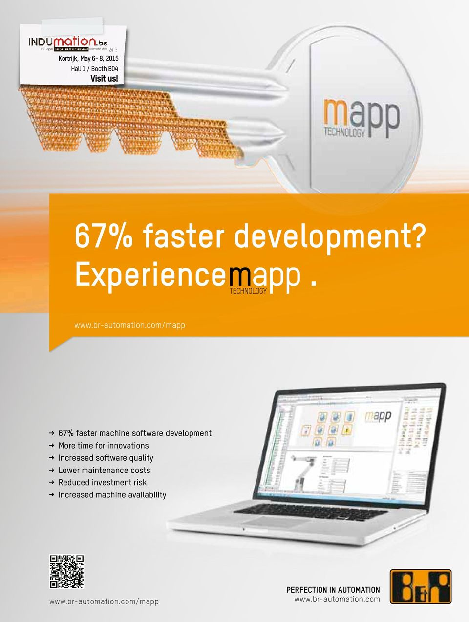 com/mapp < 67% faster machine software development < More time for innovations <
