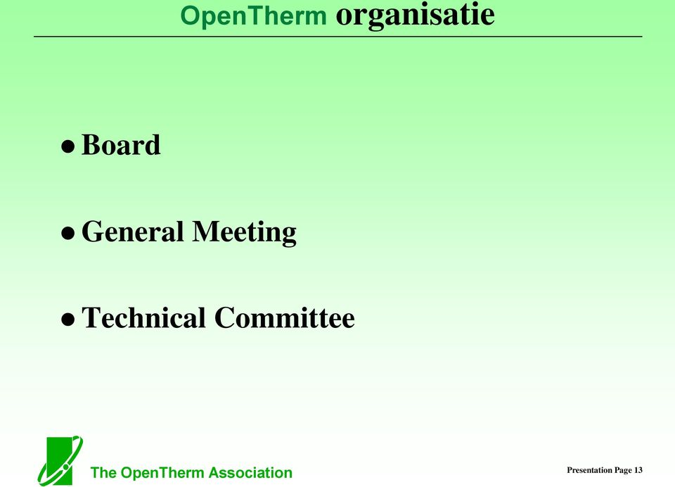 Committee The OpenTherm