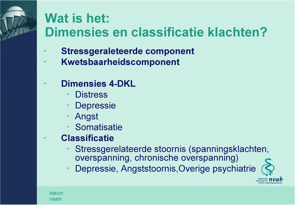 Distress Depressie Angst Somatisatie Classificatie Stressgerelateerde