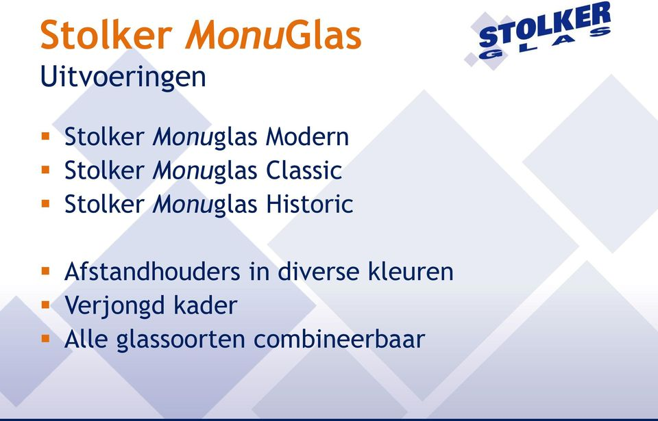 Stolker Monuglas Historic Afstandhouders in