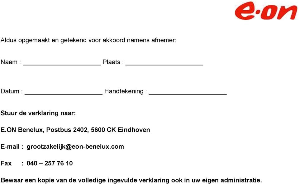 ON Benelux, Postbus 2402, 5600 CK Eindhoven E-mail :