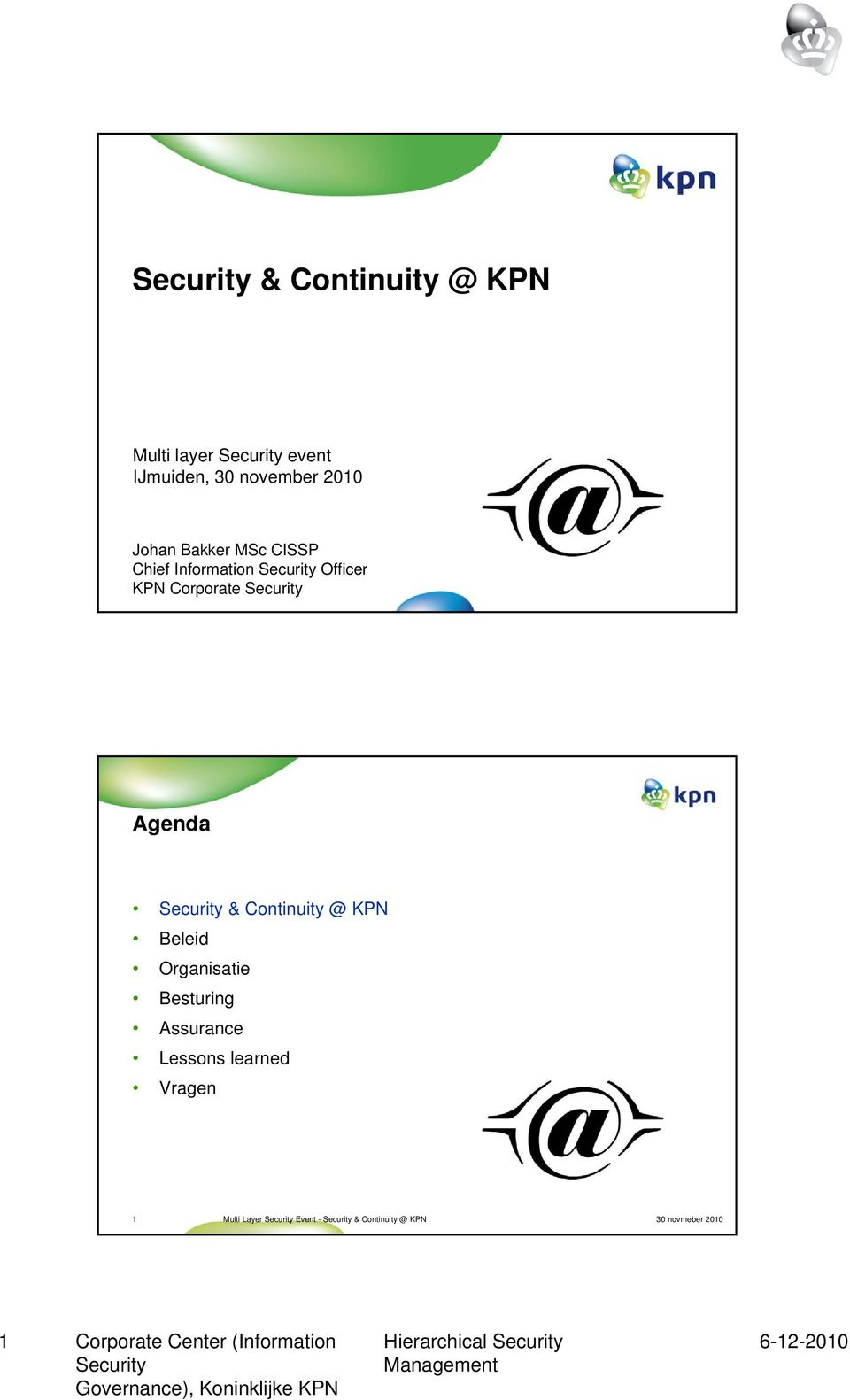 CISSP Chief Information Officer KPN