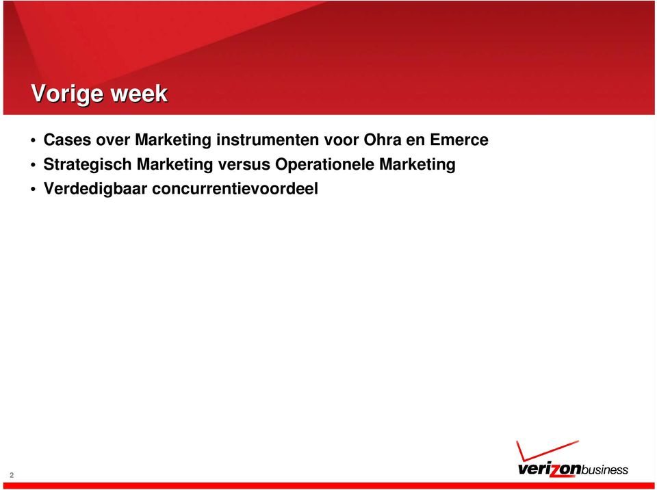 Strategisch Marketing versus