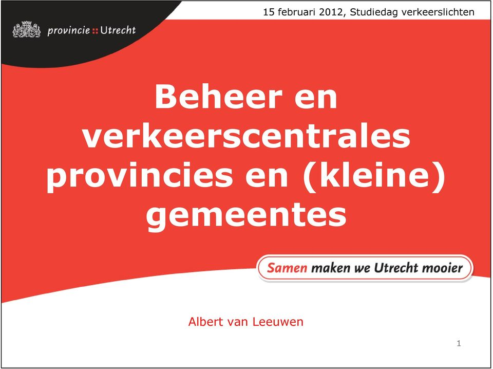 verkeerscentrales provincies en