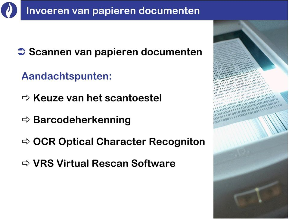 het scantoestel Barcodeherkenning OCR Optical