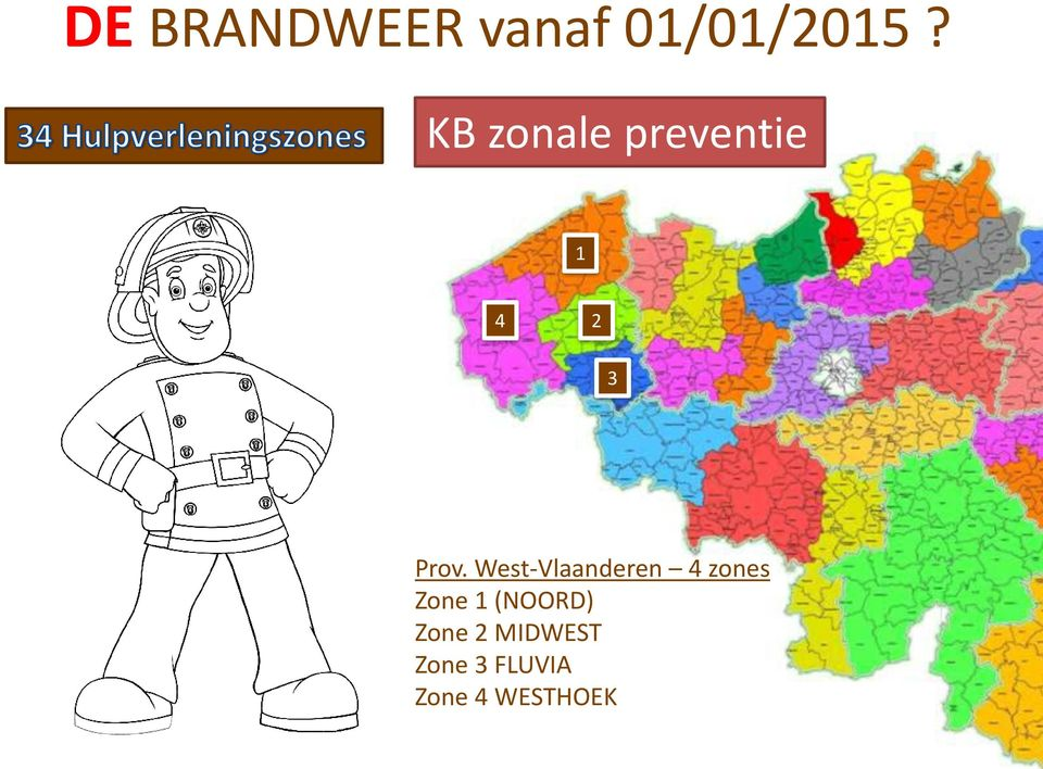 West-Vlaanderen 4 zones Zone 1