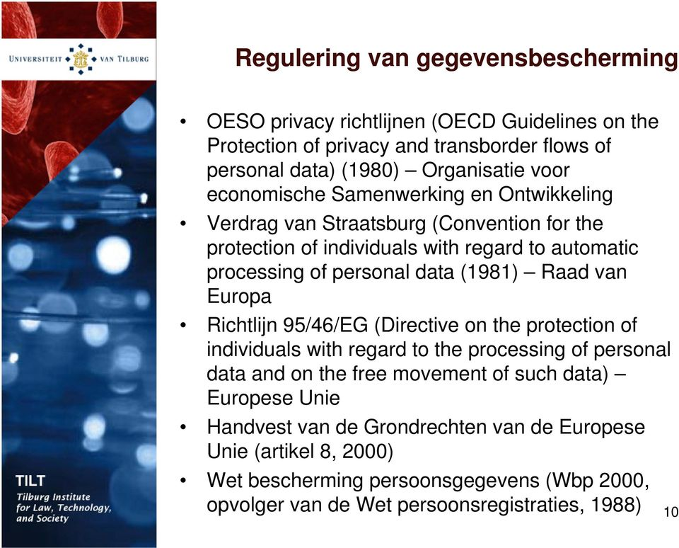 Raad van Europa Richtlijn 95/46/EG (Directive on the protection of individuals with regard to the processing of personal data and on the free movement of such data)
