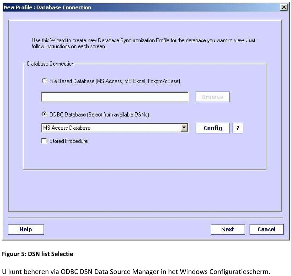 Data Source Manager in het