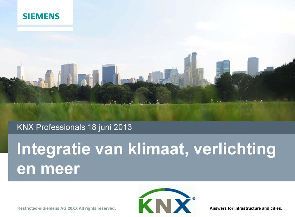 meer Restricted Siemens AG 20XX All