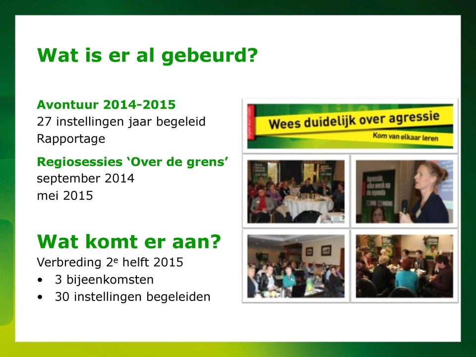 Rapportage Regiosessies Over de grens september 2014
