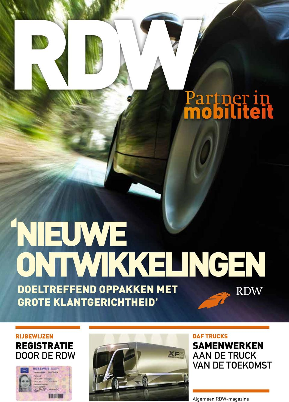 registratie door de RDW daf Trucks