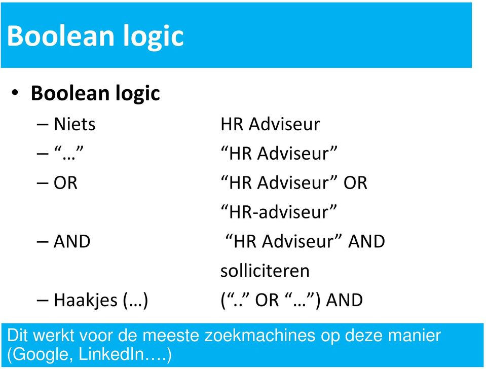 HR Adviseur AND solliciteren (.