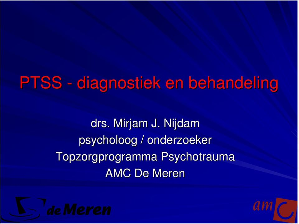 Nijdam psycholoog /