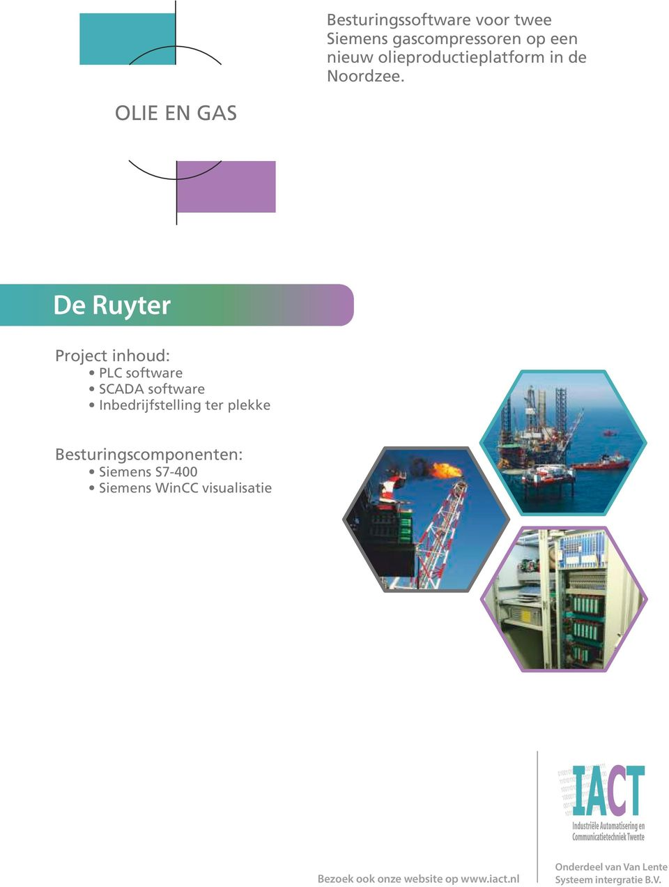 OLIE EN GAS De Ruyter PLC software SCADA software