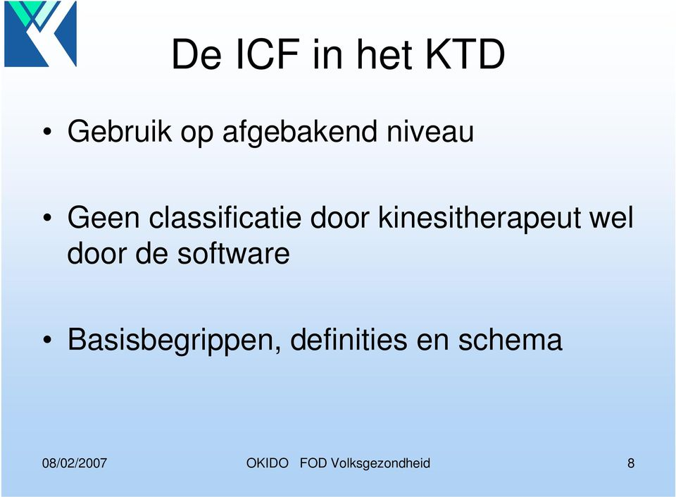 kinesitherapeut wel door de software