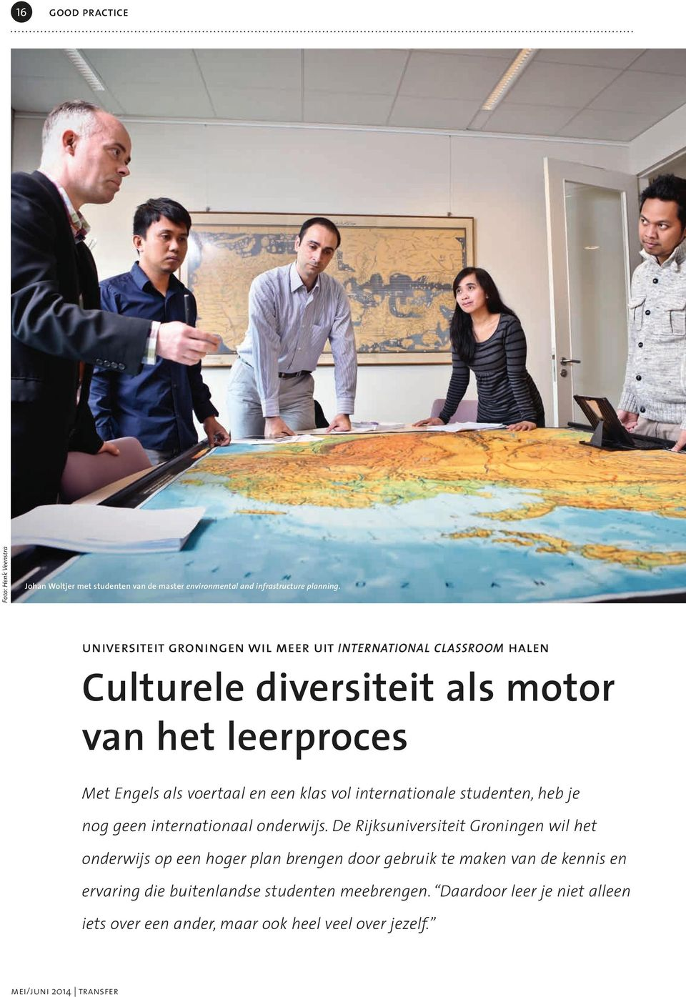 klas vol internationale studenten, heb je nog geen internationaal onderwijs.