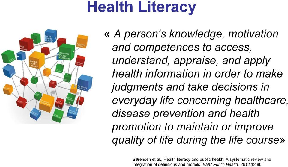prevention and health promotion to maintain or improve quality of life during the life course» Sørensen et al.