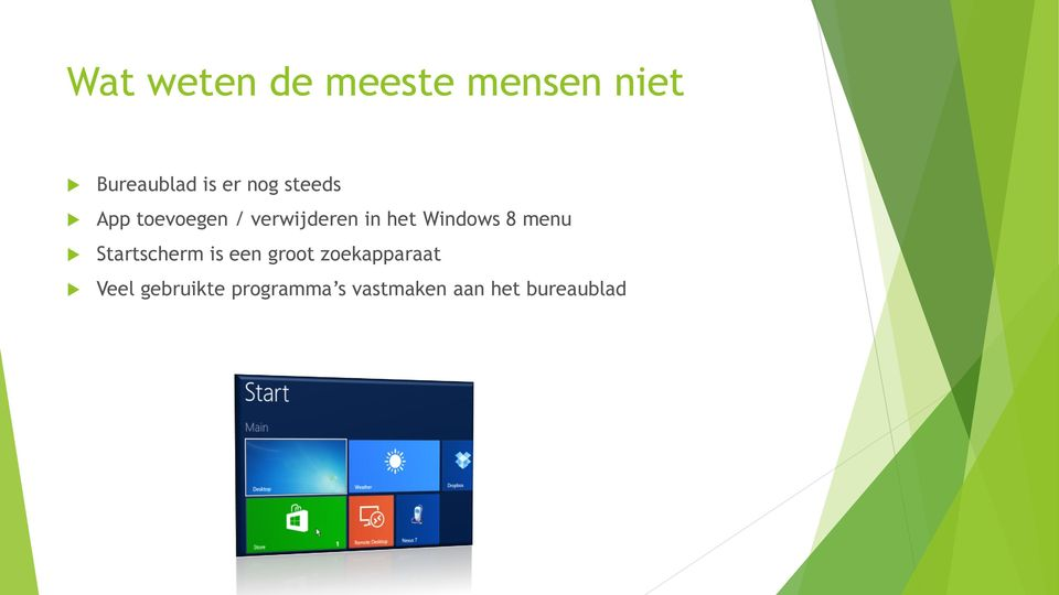Windows 8 menu Startscherm is een groot
