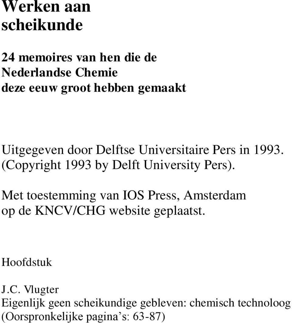 (Copyright 1993 by Delft University Pers).