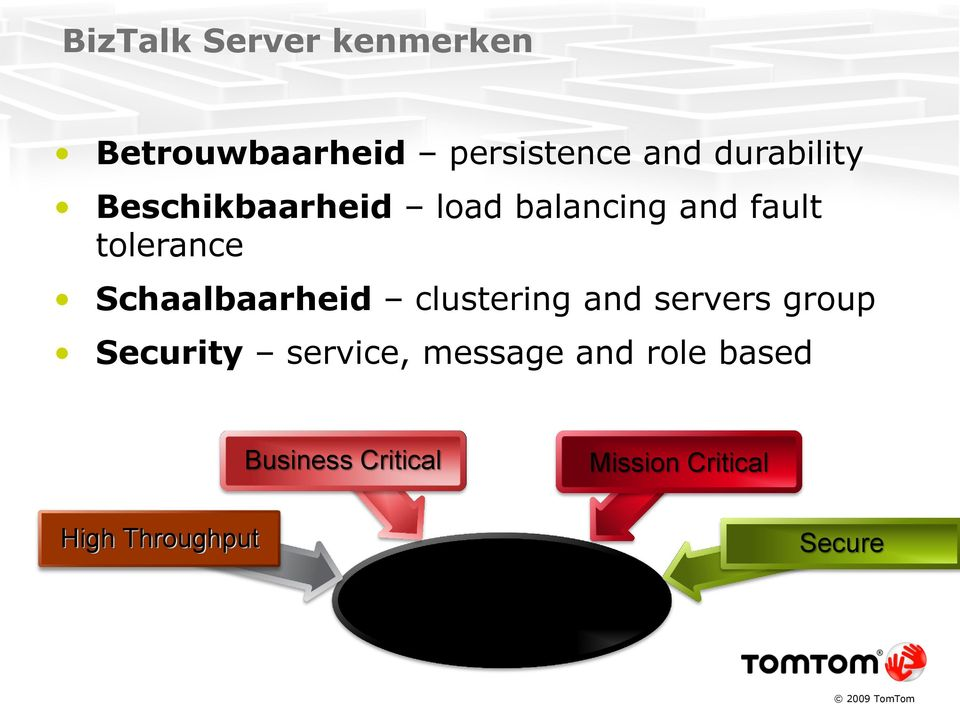 clustering and servers group Security service, message and role based