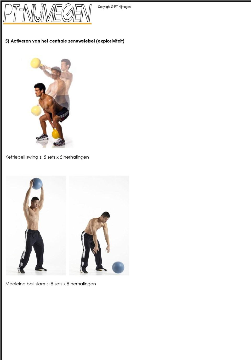 Kettlebell swing s; 5 sets x 5