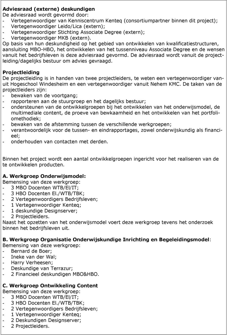 waarde associate degree