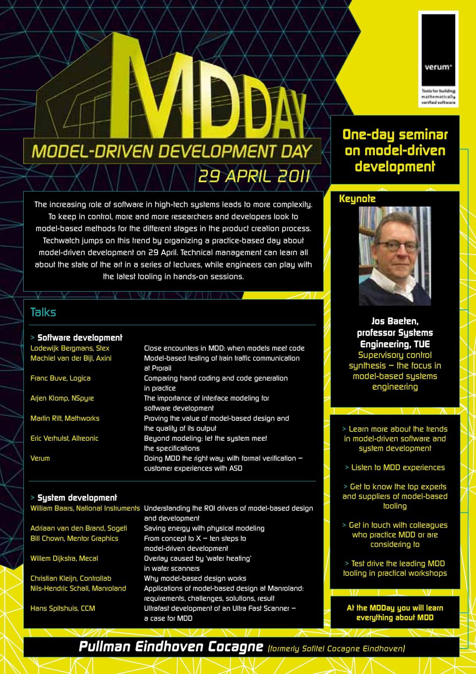 Techwatch jumps on this trend by organizing a practice-based day about model-driven development on 29 April.